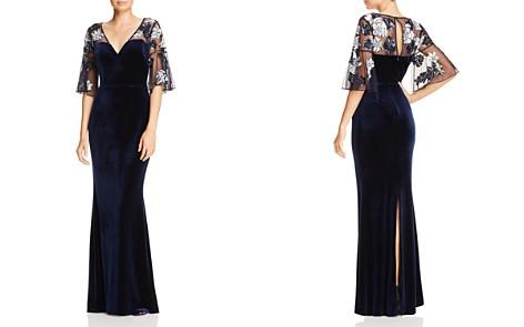 Aidan Mattox Beaded Mesh & Velvet Gown - Bloomingdale's_2