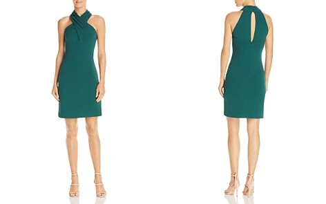 Eliza J Cross-Neck Halter Dress - Bloomingdale's_2