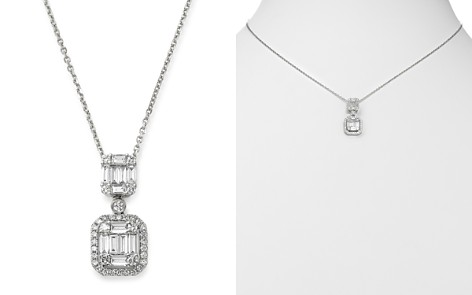 Bloomingdale's Diamond Baguette Drop Pendant Necklace in 14K White Gold, 0.80 ct. t.w. - 100% Exclusive_2