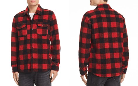 Levi's Plaid Fleece Shirt Jacket - Bloomingdale's_2