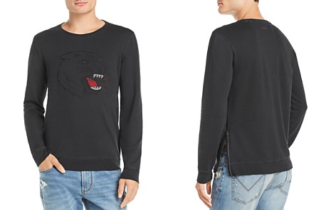 John Varvatos Star USA Tiger-Embroidered Long-Sleeve Graphic Tee - Bloomingdale's_2