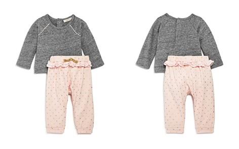 Miniclasix Girls' Raglan Sweatshirt & Ruffle Trim Dotted Pants Set - Baby - Bloomingdale's_2