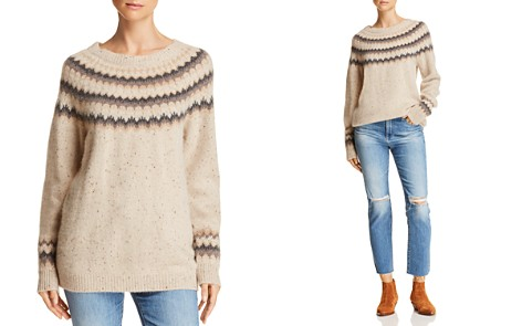 C by Bloomingdale's Fair Isle Donegal Cashmere Sweater - 100% Exclusive _2
