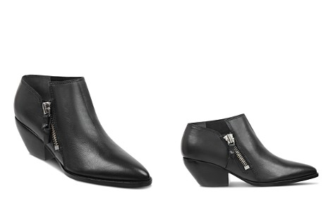 Sigerson Morrison Women's Hannah Pointed Toe Western Leather Ankle Booties - Bloomingdale's_2