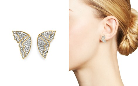 Bloomingdale's Diamond Butterfly Wing Stud Earrings in 14K Yellow Gold, 0.50 ct. t.w. - 100% Exclusive_2