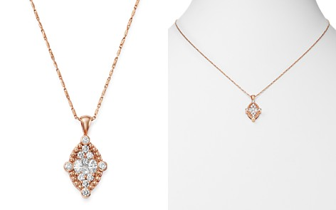 Bloomingdale's Diamond Kite Pendant Necklace in 14K Rose Gold, 0.65 ct. t.w. - 100% Exclusive_2