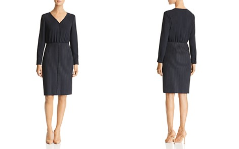 BOSS Dunka Pinstriped Dress - Bloomingdale's_2