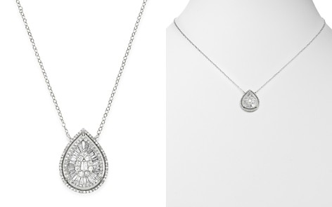 Bloomingdale's Diamond Teardrop Pendant Necklace in 14K White Gold, 0.75 ct. t.w. - 100% Exclusive_2