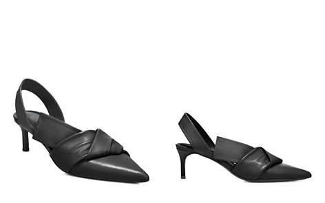 Via Spiga Women's Elisha Leather Kitten Heel Slingback Pumps - Bloomingdale's_2