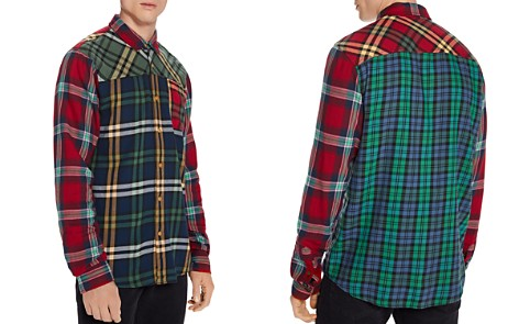 Scotch & Soda Patchwork Check Regular Fit Shirt - Bloomingdale's_2