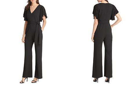 Eliza J Pleated Flutter-Sleeve Jumpsuit - Bloomingdale's_2