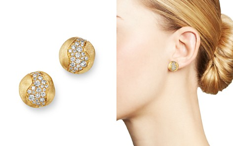 Marco Bicego 18K Yellow Gold Africa Constellation Pavé Diamond Stud Earrings - Bloomingdale's_2
