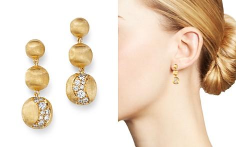 Marco Bicego 18K Yellow Gold Africa Precious Diamond Boules Drop Earrings - Bloomingdale's_2