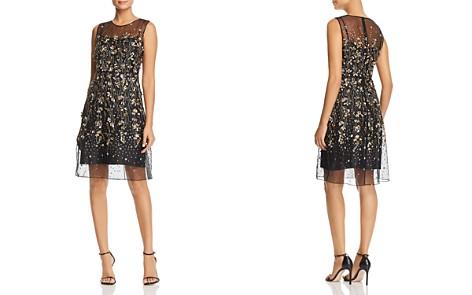 Elie Tahari Hermione Floral-Embellished Illusion Dress - Bloomingdale's_2