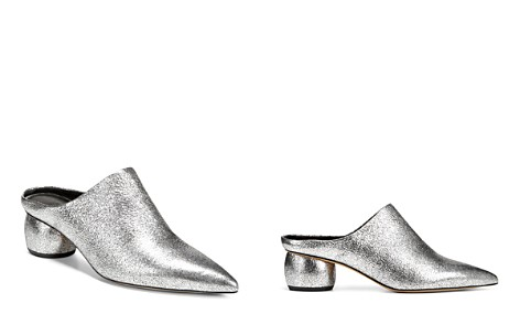 Vince Women's Eaton Metallic Leather Pointed Toe Mules - Bloomingdale's_2