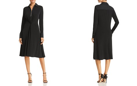 Donna Karan New York Twist Front Collared Dress - Bloomingdale's_2