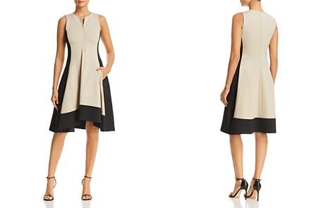 Donna Karan New York Color Block Zip Front Dress - Bloomingdale's_2