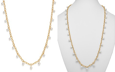 Bloomingdale's Cultured Freshwater Pearl Tin Cup Necklace in 14K Yellow Gold - 100% Exclusive _2