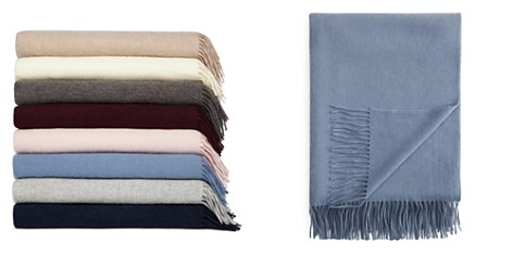 FRAAS Solid Cashmere Throw - 100% Exclusive - Bloomingdale's_2