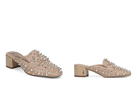 Sam Edelman Women's Augustus Almond Toe Studded Leather Mules - Bloomingdale's_2