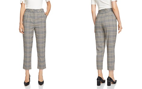 1.STATE Plaid Tapered-Leg Pants - Bloomingdale's_2