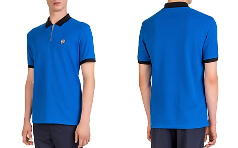 The Kooples Badge Color-Block Regular Fit Pique Polo - Bloomingdale's_2