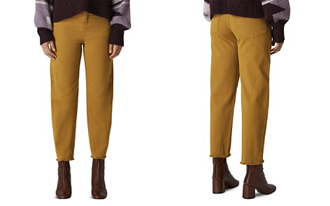 Whistles High Rise Barrel-Leg Jeans in Camel - Bloomingdale's_2