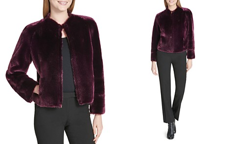 Calvin Klein Reversible Faux-Fur Cropped Jacket - Bloomingdale's_2