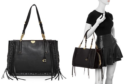 COACH Dreamer 34 Whipstitch Leather & Suede Tote - Bloomingdale's_2