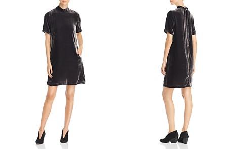 Eileen Fisher Velvet Mock Neck Dress - Bloomingdale's_2