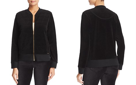 Calvin Klein Quilted Velour Bomber Jacket - Bloomingdale's_2