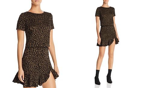 AQUA Flocked Leopard Print Top - 100% Exclusive - Bloomingdale's_2