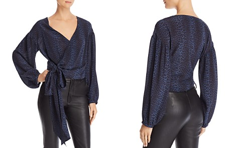 Ramy Brook Daya Leopard Silk Wrap Top - 100% Exclusive - Bloomingdale's_2