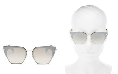 rag & bone Women's Mirrored Oversized Square Sunglasses, 64mm - Bloomingdale's_2