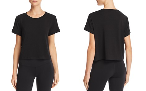 AQUA Athletic Boxy Cropped Tee - 100% Exclusive - Bloomingdale's_2