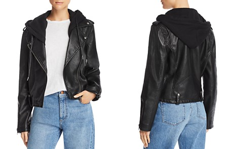 BLANKNYC Hooded Faux Leather Moto Jacket - Bloomingdale's_2