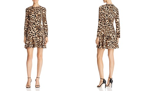 AQUA Flounce-Hem Leopard Print Dress - 100% Exclusive - Bloomingdale's_2
