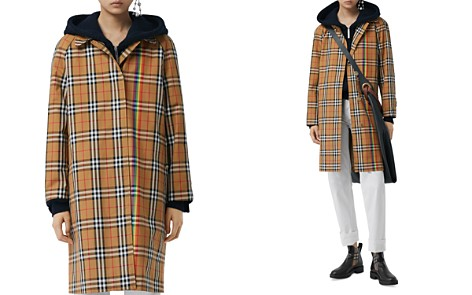 Burberry Clayborne Plaid Rainbow Stripe Trench Coat - Bloomingdale's_2