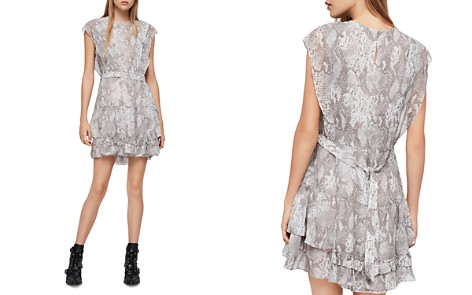 ALLSAINTS Evely Snake Print Dress - Bloomingdale's_2