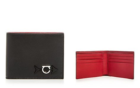 Salvatore Ferragamo Gancini Arrow Leather Bi-Fold Wallet - Bloomingdale's_2