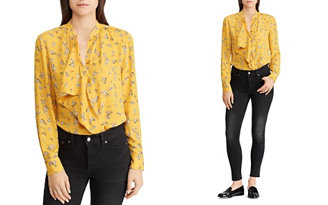 Lauren Ralph Lauren Floral Print Ruffle-Front Blouse - Bloomingdale's_2