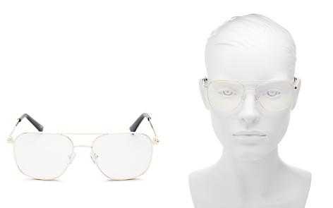 The Book Club Women's Bored of the Flings Brow Bar Aviator Blue Screen Filter Glasses, 55mm - Bloomingdale's_2