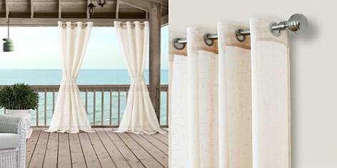 "Elrene Home Fashions Bali Sheer Indoor/Outdoor Tieback Curtain Panel, 52"" x 84"" - Bloomingdale's_2"