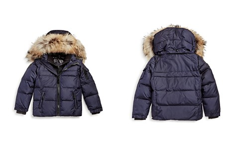 SAM. Boys' Matte Mountain Fur Trim Down Jacket - Little Kid - Bloomingdale's_2