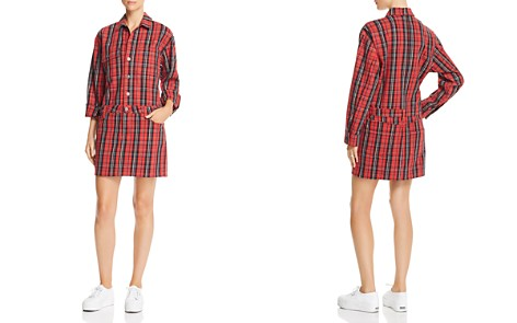 Current/Elliott Plaid Denim Shirt Dress - Bloomingdale's_2