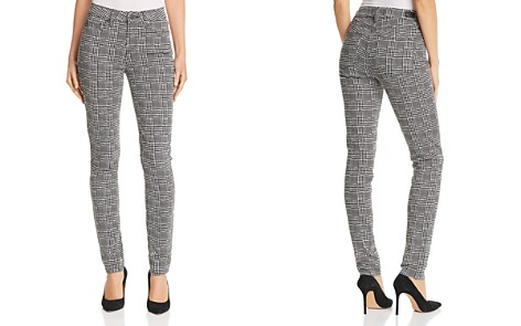 PAIGE Hoxton Ultra Skinny Jeans in Cream/Black Glen Check - Bloomingdale's_2