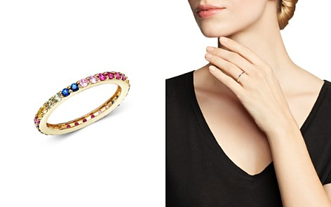 Bloomingdale's Rainbow Sapphire Band in 14K Yellow Gold - 100% Exclusive_2