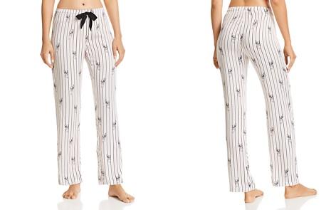 PJ Salvage Luxe Affair Striped Dog-Print Sateen Pajama Pants - Bloomingdale's_2