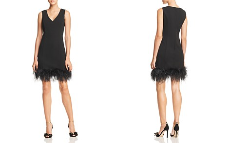 Eliza J Feather-Trimmed Dress - 100% Exclusive - Bloomingdale's_2