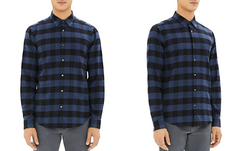 Theory Irving Check Regular Fit Flannel Shirt - Bloomingdale's_2